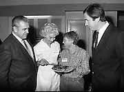 Housewife Of The Year Regional Final..1986..03.11.1986..11.03.1986..3rd November 1986..The Calor/Kosangas sponsored Housewife Of The Year competition was held in the Gresham Hotel,Dublin. The Dublin Regional Final was won by Mrs Patricia Connolly from Clane,Co Kildare...Pictured at the Calor Kosangas regional final were: Mr Paddy Byrne,Area Manager,Calor Kosangas,Mrs Elizabeth Boyhan,one of the cookery judges,Mrs Ann Fitzsimons,Naas,Co Kildare a finalist and Mr Noel Cullen,one of the cookery judges.