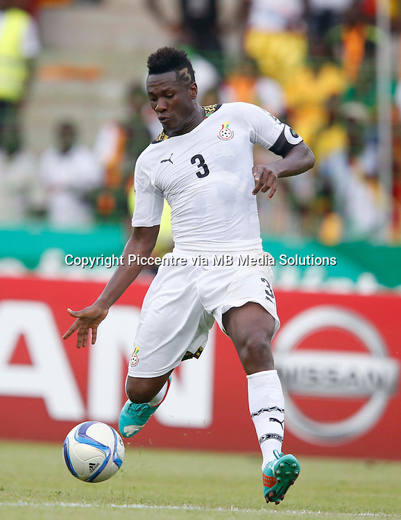 Asamoah Gyan of Ghana in actionl against Guinea during their AFCON 2015 Quarter Finals Match on February 1 2015 at Estadio de Malabo Equatorial Guinea. Photo/Mohammed Amin/www.pic-centre.com (Equatorial Guinea)