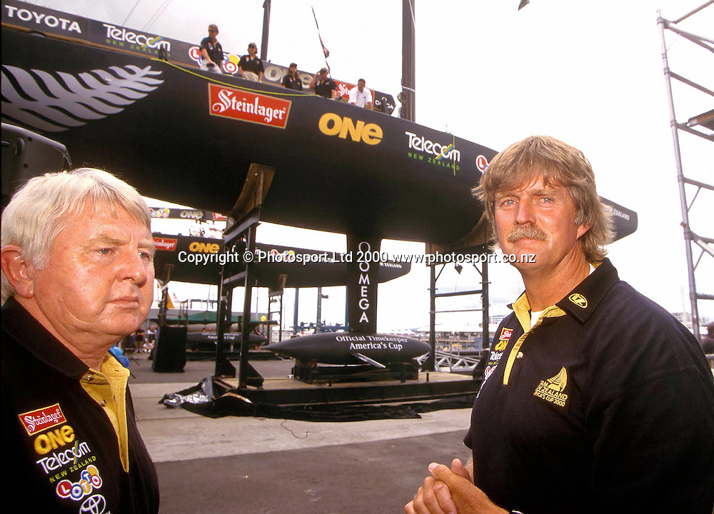 Sir Peter Black during the Team New Zealand Yacht unveiling, 2000. Photo: PHOTOSPORT<br />