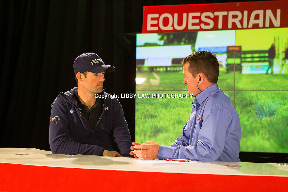 NZL-Jonathan Paget speaks with David Nickalls of EquestrianLive: www.equestrianlive.co.nz - LIVE STREAMING THROUGHOUT: 2015 NZL-Farmlands Horse Of The Year Show, Hastings (Friday 20 March) CREDIT: Libby Law CREDIT: LIBBY LAW PHOTOGRAPHY