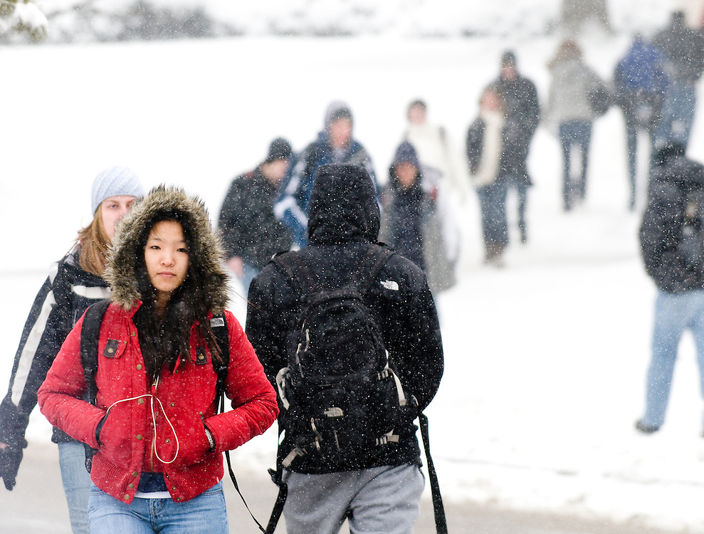 Bloomington, Indiana, home of Indiana University, was under a blanket of heavy snow on Monday, with more snow predicted Tuesday. Heavy snowfall continues across much of the country.
