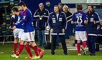 Fotball<br /> Ullevaal Stadion 18.10.15<br /> Vålerenga VIF - Sarpsborg 08<br /> Daniel Fredheim Holm har scora og Kjetil Rekdal feirer på sin måte<br /> Foto: Eirik Førde