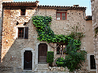 view of the typical south east of france old stone village of saint paul de vence on the french riviera refuge of many artist,painters,sculptors