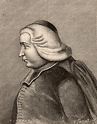 Ruggero Giuseppe Boscovich (Rudjer Josip Boskovic - 1711-1787) Serbo-Croatian astronomer and mathematician, born at Dubrovnik.  He entered the Jesuit order (Society of Jesus) in 1726 and studied mathematics and physics at the Collegium Romanum, Rome. Engraving.