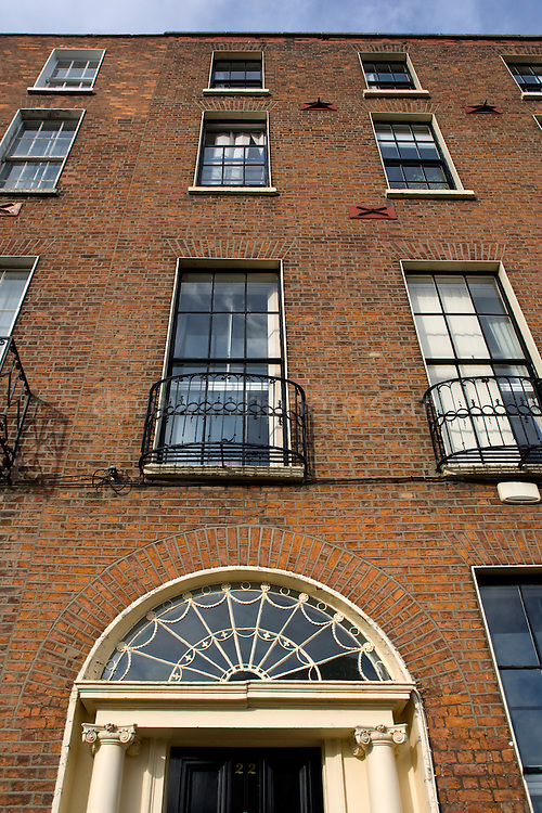 Georgian Houses in Mountjoy Square, Dublin 1, Ireland, named after Viscount Mountjoy, laid out in  1791 and completed between 1793 and 1818.