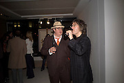 PHILL JUPITUS AND PHIL WILDING, Ideas And Idols - private view of work by Paul Karslake.<br />