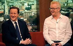 Leader of the Conservative Party David Cameron with Chris Evans  on the BBC 1's Andrew Marr Show, Sunday  January 10, 2010. Photo By Andrew Parsons / i-Images.