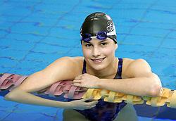 Sara Isakovic (SLO) of PK Gorenjka Radovljica at practice, on February 10, 2005, Radovljica Swimming pool, Radovljica, Slovenia.  (Photo by Vid Ponikvar / Sportida)
