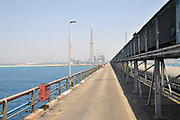 The wharf attached to the coal operated power plant. Hadera, Israel