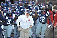 Hugh Freeze at Ole Miss vs. Alabama at Vaught-Hemingway Stadium in Oxford, Miss. on Saturday, October 4, 2014. Ole Miss won 23-17.
