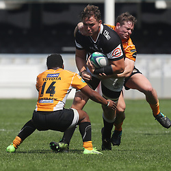 JJ van der Mescht of the Cell C Sharks General views during the SA Rugby U19's Championship match between the Cell C Sharks U19's and the Free State U19's  at Jonsson Kings Park Stadium,Durban.South Africa.28 September 2018,(Photo by Steve Haag)