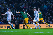Leeds United forward Patrick Bamford (9) in action during the EFL Sky Bet Championship match between Leeds United and Preston North End at Elland Road, Leeds, England on 26 December 2019.