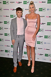 © Licensed to London News Pictures. 17/10/2018. London, UK. Freddie and Sian, contestants of the Channel 4 show The Circle attend the Pink News Awards 2018 held at Church House. Photo credit: Ray Tang/LNP