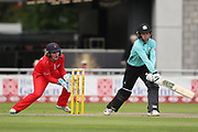 Sarah Taylor (Wicket Keeper) of the Surrey Stars reverse sweep shot during the Women's Cricket Super League match between Lancashire Thunder and Surrey Stars at the Emirates, Old Trafford, Manchester, United Kingdom on 7 August 2018.