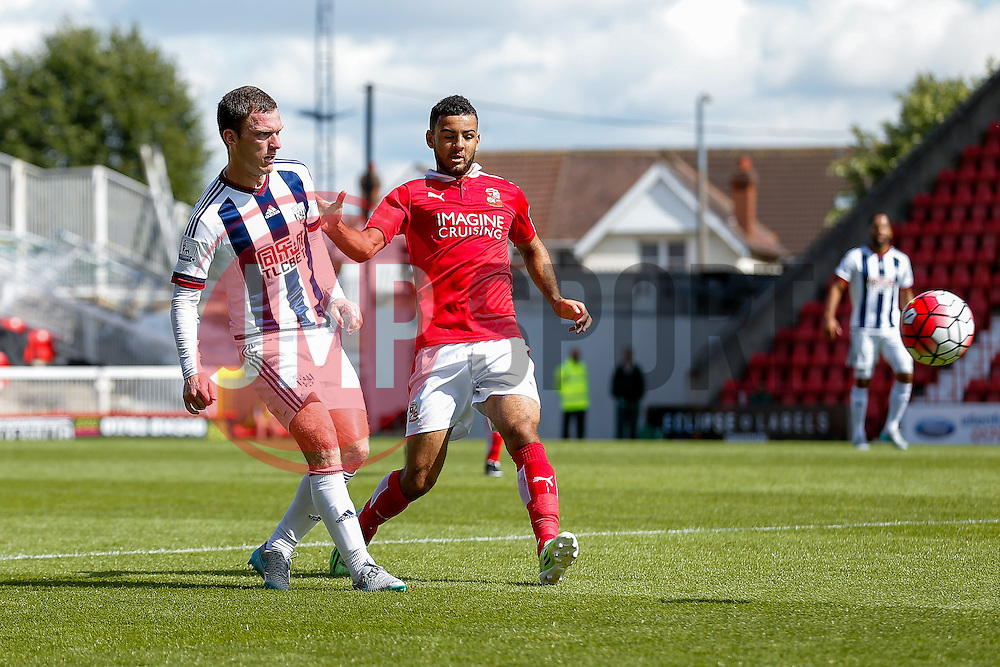 Craig Gardner of West Brom in action - Mandatory byline: Rogan Thomson/JMP - 07966 386802 - 25/07/2015 - SPORT - Football - Swindon, England - The County Ground - Swindon Town v West Bromwich Albion - 2015/16 Pre Season Friendly.