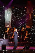 Aboard the Rhapsody of the Seas, on a cruise from Vancouver to Hawaii. Steve Washington at the Broadway Melodies Theatre.