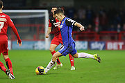Lee Cox of Stevenage shoots at goal during the Sky Bet League 2 match between Crawley Town and Stevenage at the Checkatrade.com Stadium, Crawley, England on 26 December 2015. Photo by Phil Duncan.