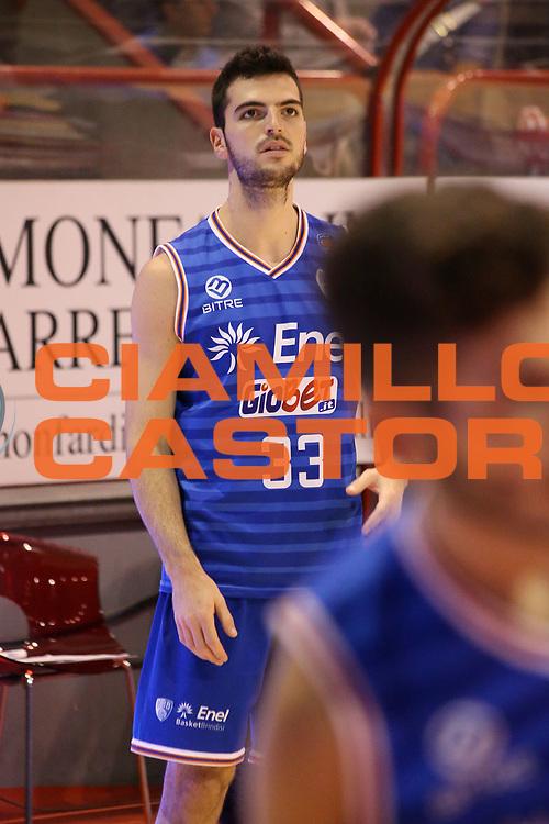 DESCRIZIONE : Campionato 2015/16 Giorgio Tesi Group Pistoia - Enel Brindisi<br /> GIOCATORE : Marzaioli Domenico <br /> CATEGORIA : Riscaldamento Before Pregame<br /> SQUADRA : Enel Brindisi<br /> EVENTO : LegaBasket Serie A Beko 2015/2016<br /> GARA : Giorgio Tesi Group Pistoia - Enel Brindisi<br /> DATA : 04/10/2015<br /> SPORT : Pallacanestro <br /> AUTORE : Agenzia Ciamillo-Castoria/S.D'Errico<br /> Galleria : LegaBasket Serie A Beko 2015/2016<br /> Fotonotizia : Campionato 2015/16 Giorgio Tesi Group Pistoia - Enel Brindisi<br /> Predefinita :