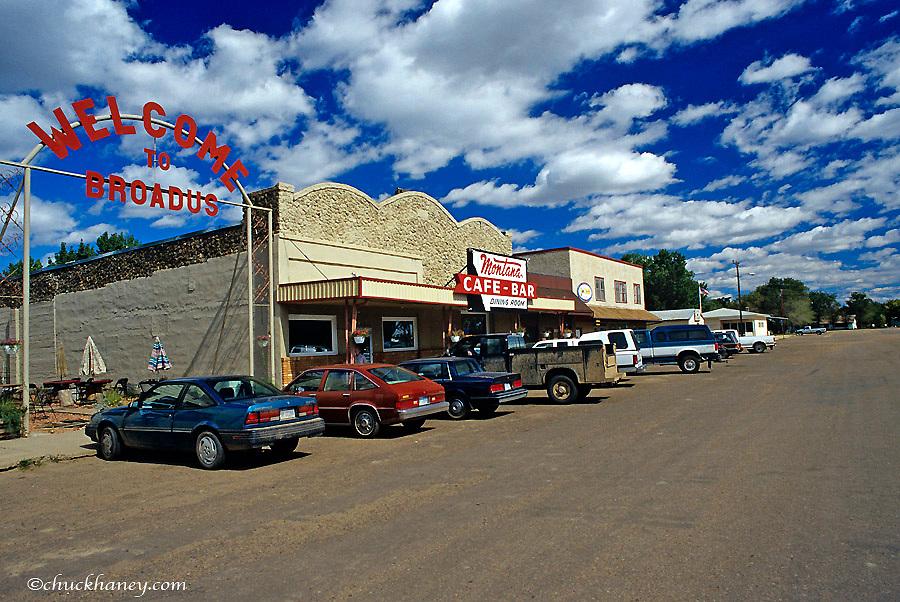 Main Street of Broadus, Montana