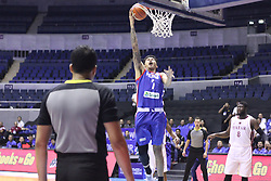 September 17, 2018 - Quezon City, NCR, Philippines - Poy Erram (Blue) of the Philippines breaks away for an open lay-up. (Photo by Dennis Jerome Acosta/ Pacific Press) (Credit Image: © Dennis Jerome S. Acosta/Pacific Press via ZUMA Wire)