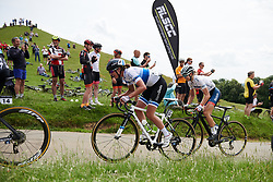 Marianne Vos (NED) near the top of the Burton Dassett climb at OVO Energy Women's Tour 2018 - Stage 3, a 151 km road race from Atherstone to Leamington Spa, United Kingdom on June 15, 2018. Photo by Sean Robinson/velofocus.com