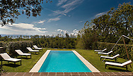 Villa San Donato in Italy, on the border between Tuscany and Lazio. The pool.