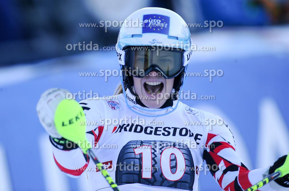 29.12.2015, Hochstein, Lienz, AUT, FIS Weltcup Ski Alpin, Lienz, Slalom, Damen, 2. Durchgang, im Bild Carmen Thalmann (AUT) // Carmen Thalmann of Austria reacts after 2nd run of ladies Slalom of the Lienz FIS Ski Alpine World Cup at the Hochstein in Lienz, Austria on 2015/12/29. EXPA Pictures © 2015, PhotoCredit: EXPA/ Erich Spiess