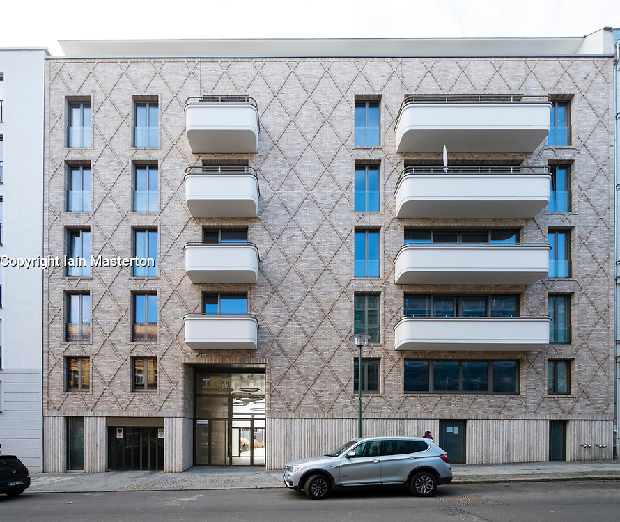Modern apartment building in gentrified district of Prenzlauer Berg, Berlin, Germany