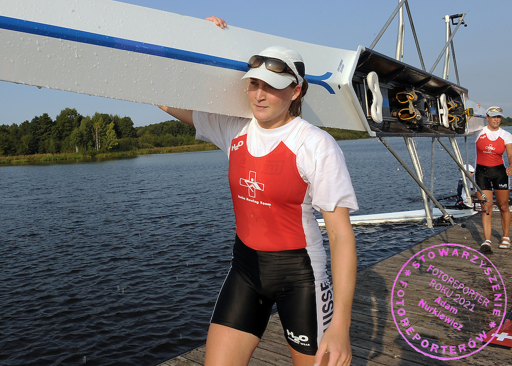 SARA HOFMANN (SWITZERLAND) FROM THE WOMEN'S DOUBLE SCULLS AFTER TRAINING SESSION ONE DAY BEFORE REGATTA EUROPEAN ROWING CHAMPIONSHIPS IN BREST, BELARUS...BREST , BELARUS , SEPTEMBER 17, 2009..( PHOTO BY ADAM NURKIEWICZ / MEDIASPORT )..PICTURE ALSO AVAIBLE IN RAW OR TIFF FORMAT ON SPECIAL REQUEST.