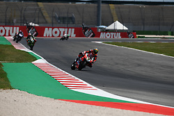 July 8, 2018 - Misano, Italy, Italy - 7 Chaz Davies GBR Ducati Panigale R Aruba.it Racing - Ducati during the Motul FIM Superbike Championship - Italian Round  Sunday race during the World Superbikes - Circuit PIRELLI Riviera di Rimini Round, 6 - 8 July 2018 on Misano, Italy. (Credit Image: © Fabio Averna/NurPhoto via ZUMA Press)