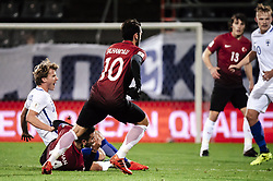October 9, 2017 - Turku, Finland - Hakan Calhanoglu of Turkey vie for the ball during the FIFA World Cup 2018 qualifying football match between Finland and Turkey in Turku, Southern Finland on October 9, 2017. (Credit Image: © Antti Yrjonen/NurPhoto via ZUMA Press)