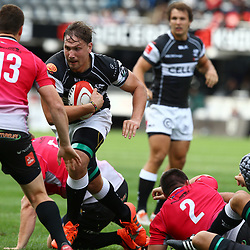 DURBAN, SOUTH AFRICA - SEPTEMBER 05: Etienne Oosthuizen of the Cell C Sharks during the Absa Currie Cup match between Cell C Sharks and Steval Pumas at Growthpoint Kings Park on September 05, 2015 in Durban, South Africa. (Photo by Steve Haag/Gallo Images)