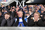 Bristol Rovers manager fans cheering the team onto the pitch during the EFL Sky Bet League 1 match between Bristol Rovers and Scunthorpe United at the Memorial Stadium, Bristol, England on 24 February 2018. Picture by Gary Learmonth.