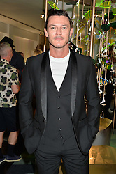 LUKE EVANS at the opening of L'Eden by Perrier-Jouet held at The Unit, 147 Wardour Street, Soho, London on 15th September 2016.