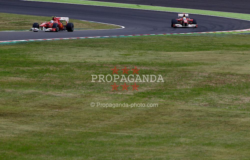 Motorsports / Formula 1: World Championship 2010, GP of Japan, 08 Fernando Alonso (ESP, Scuderia Ferrari Marlboro), 07 Felipe Massa (BRA, Scuderia Ferrari Marlboro),