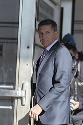 December 18, 2018 - Washington, District of Columbia, U.S. - General MICHAEL FLYNN, former advisor to United States President Donald J. Trump, arrives at US District Court for sentencing in Washington, DC.  (Credit Image: © Alex Edelman/CNP via ZUMA Wire)