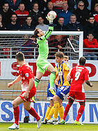 Brentford Goalkeeper David Button during the Sky Bet League 1 match at the Matchroom Stadium, London<br /> Picture by Mark D Fuller/Focus Images Ltd +44 7774 216216<br /> 15/03/2014