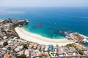 Aerial Stock Photo of Mussel Cove in Laguna Beach California