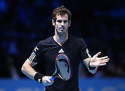 Andy Murray during the Novak Djokovic vs Andy Murray match at the Barclays ATP World Tour Finals, O2 Arena, London, United Kingdom on 16 November 2014 © Pro Sports Images
