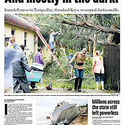 Sept. 12, 2017 front page of the Tampa Bay Times. Photo by Chris Urso