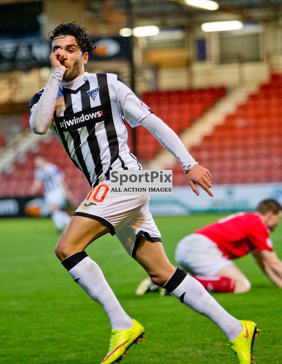 Dunfermline Athletic v Brechin City SPFL League One Season 2015/16 East End Park 05 December 2015<br /> Faissal El Bakhtaoui celebrates making it 1-0<br /> CRAIG BROWN | sportPix.org.uk