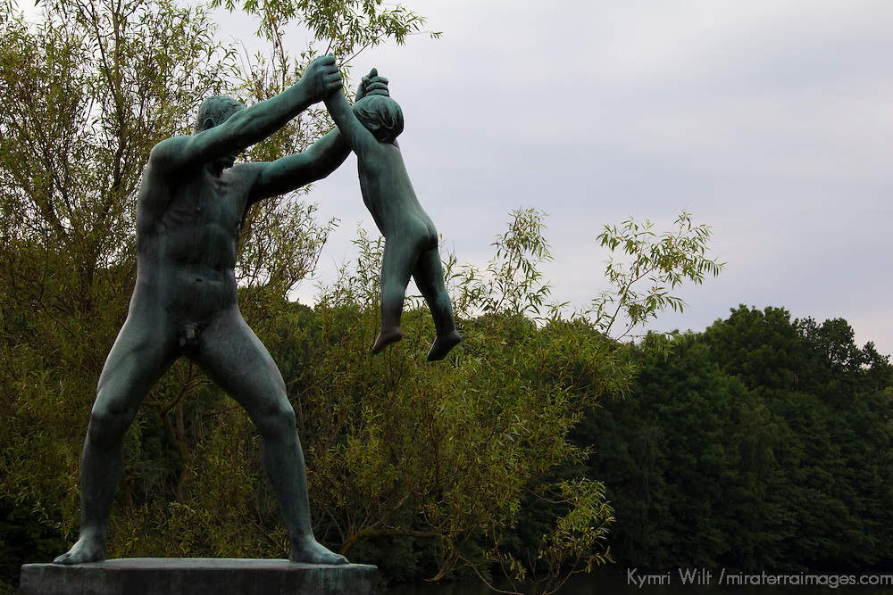 Europe, Norway, Oslo. Bronze Human Statue at Frogner Park