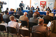 Senior Games Warmia Mazury 2014 press conference at Polish Olympic Committee in Warsaw, Poland.<br /> <br /> Poland, Warsaw, August 27, 2014<br /> <br /> Picture also available in RAW (NEF) or TIFF format on special request.<br /> <br /> For editorial use only. Any commercial or promotional use requires permission.<br /> <br /> Photo by &copy; Adam Nurkiewicz / Mediasport