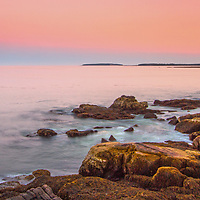 Maine Acadia National Park sunset seascape photographs are available as museum quality photography prints, canvas prints, acrylic prints, wood prints or metal prints. Wall art prints may be framed and matted to the individual liking and room decor needs:<br />