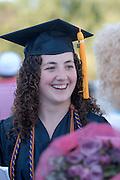 18276Undergraduate Commencement 2007..Amanda Dawson Talks to Nancy Dawson(mom)