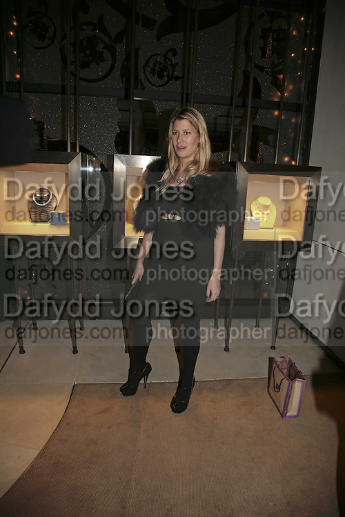 Sara Buys, THE CHRISTMAS PARTY CELEBRATING THE 225TH ANNIVERSARY OF ASPREY. 167 NEW BOND ST. LONDON W1. 7 DECEMBER 2006. ONE TIME USE ONLY - DO NOT ARCHIVE  © Copyright Photograph by Dafydd Jones 248 CLAPHAM PARK RD. LONDON SW90PZ.  Tel 020 7733 0108 www.dafjones.com
