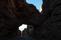 United States, California, Death Valley. Natural Bridge Canyon contains a natural stone bridge.