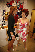 TARA PALMER-TOMPKINSON AND CLEO ROCOS, Party for House of Waris jewelry collection hosted by Daphne Guinness, Alice Bamford and Wes Anderson. Dover St. market. London. 8 June 2006. ONE TIME USE ONLY - DO NOT ARCHIVE  © Copyright Photograph by Dafydd Jones 66 Stockwell Park Rd. London SW9 0DA Tel 020 7733 0108 www.dafjones.com