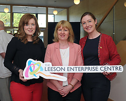 Pictured at the opening of the Leeson Enterprise Centre Elaine Moyles Local Enterprise Office, Fiona Quinn (Anoka Learing) and Nicola Kennedy Local Enterprise Office.<br />Pic Conor McKeown