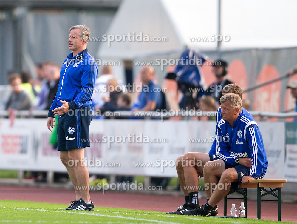 29.07.2014, Kufstein Arena, Kufstein, AUT, FS Vorbereitung, Testspiel, FC Schalke 04 vs Stoke City, im Bild Trainer Jens Keller (FC Schalke 04) // during a Friendly Match between FC Schalke 04 and Stoke City at the Kufstein Arena, Kufstein, Austria on 2014/07/29. EXPA Pictures © 2014, PhotoCredit: EXPA/ Johann Groder